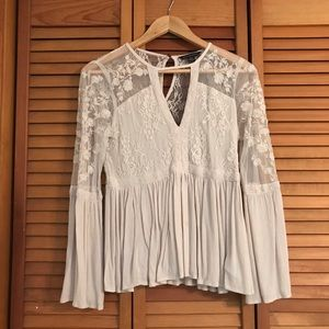 American Eagle Outfitters lace long sleeve blouse
